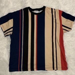 Urban Outfitters Wide Vertical Stripe Dad Tee
